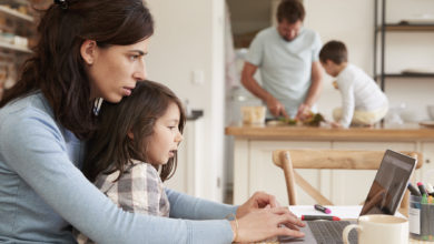 trabajar en casa con niños