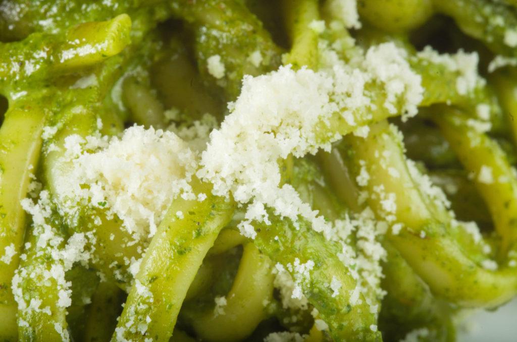 espagueti al cilantro