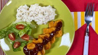 Crujientes nuggets en salsa casera de tamarindo
